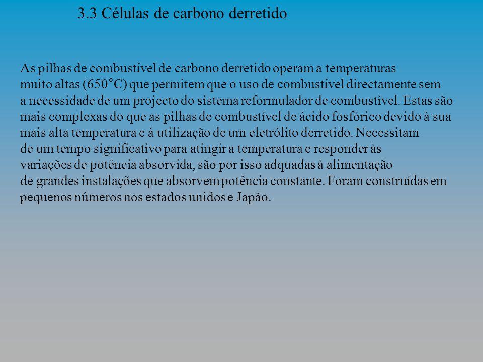 3.3 Células de carbono derretido