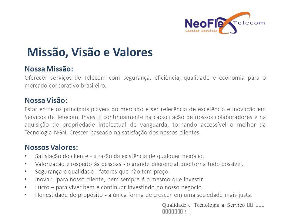 Missão, Visão e Valores Nossa Missão: Nossa Visão: Nossos Valores: