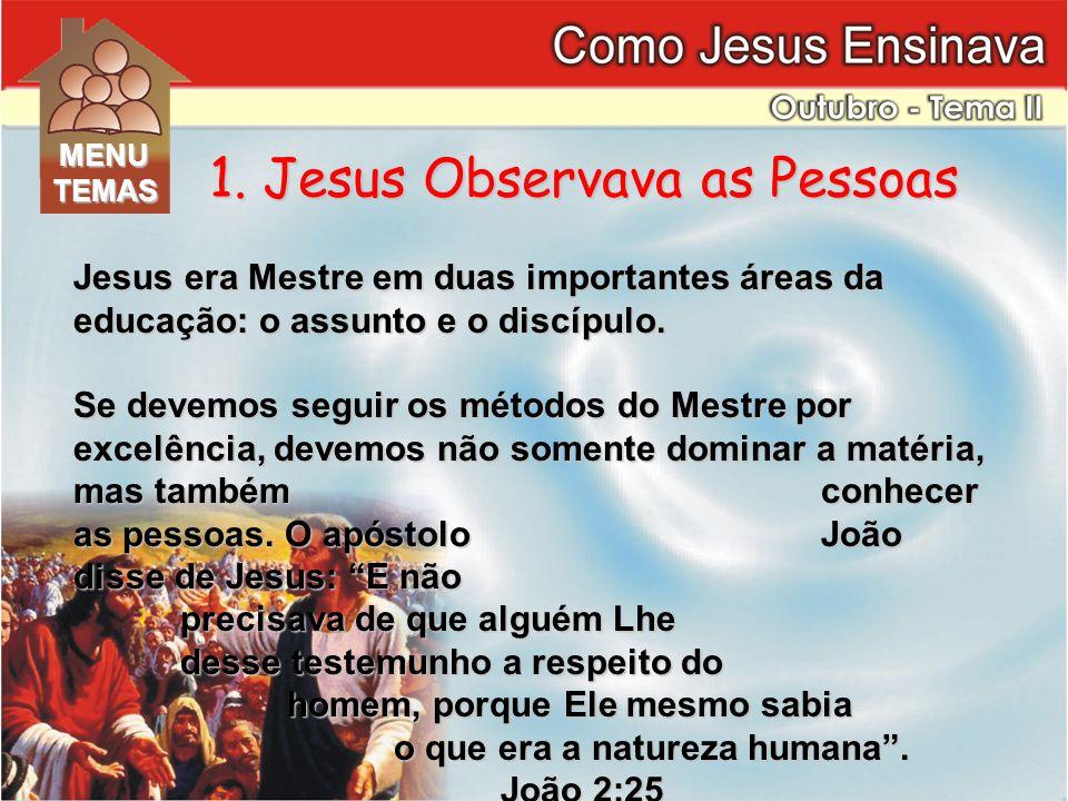 1. Jesus Observava as Pessoas