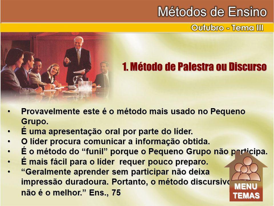 1. Método de Palestra ou Discurso