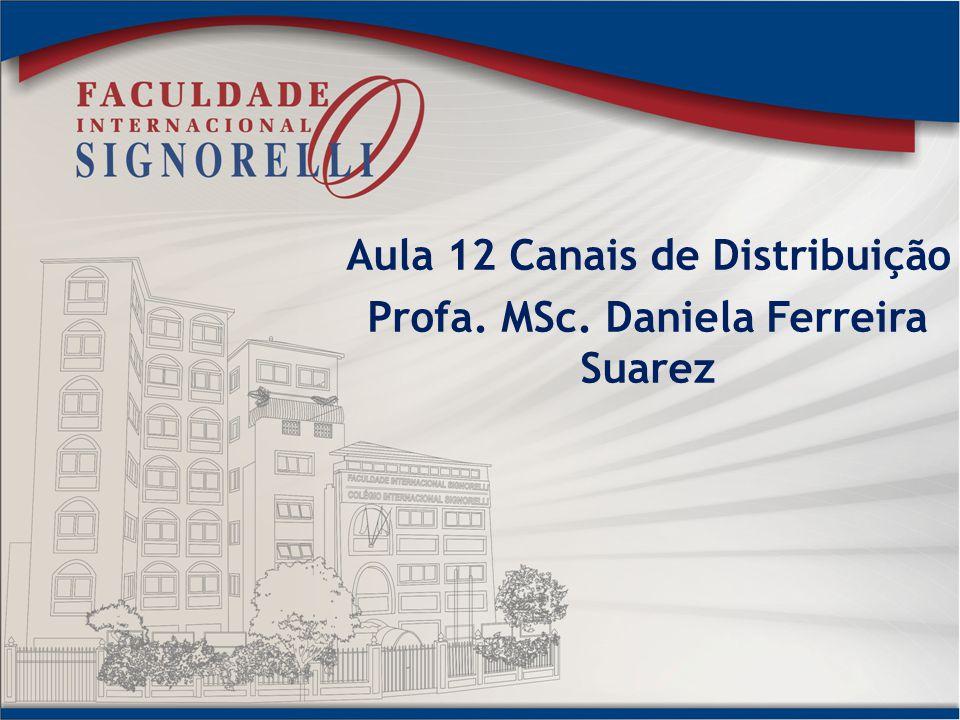 Aula 12 Canais de Distribuição Profa. MSc. Daniela Ferreira Suarez
