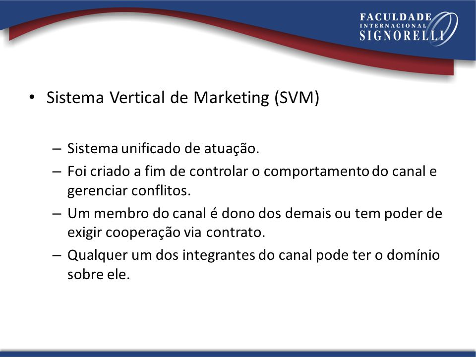 Sistema Vertical de Marketing (SVM)