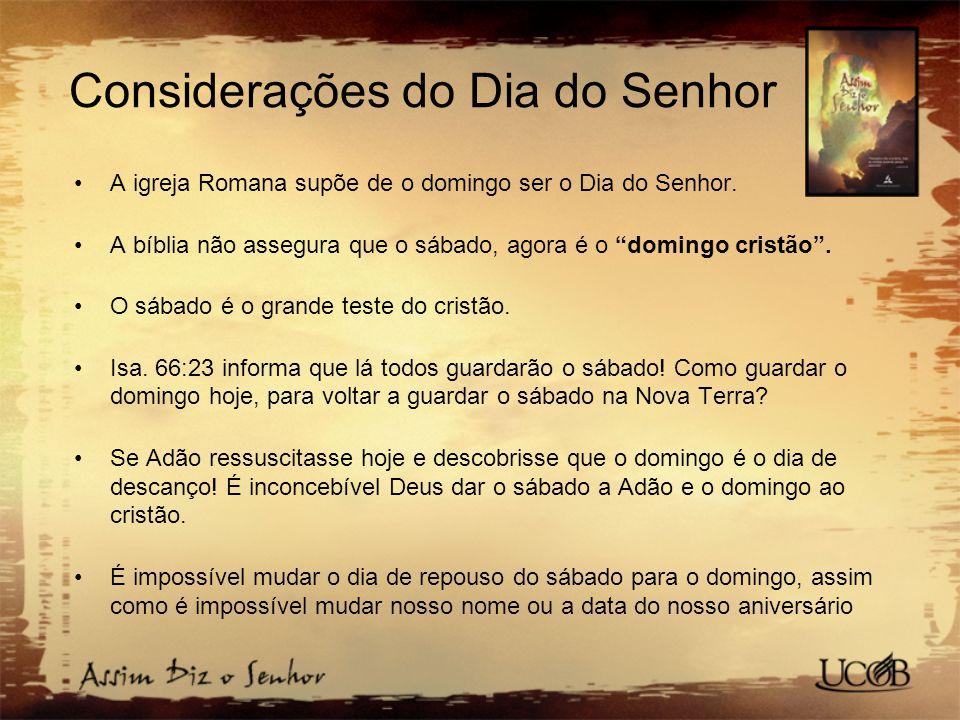 Considerações do Dia do Senhor