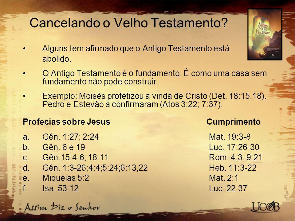 Cancelando o Velho Testamento