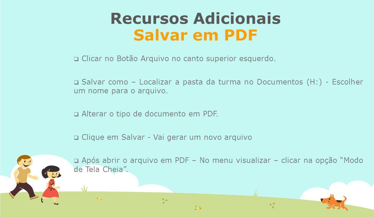 Recursos Adicionais Salvar em PDF