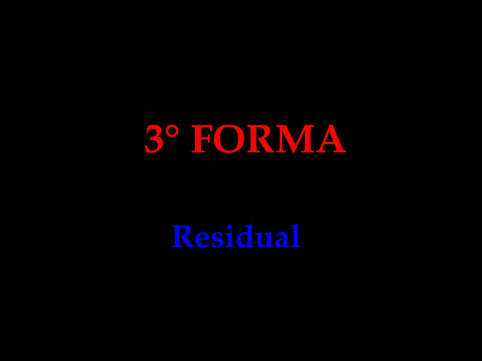 3° FORMA Residual