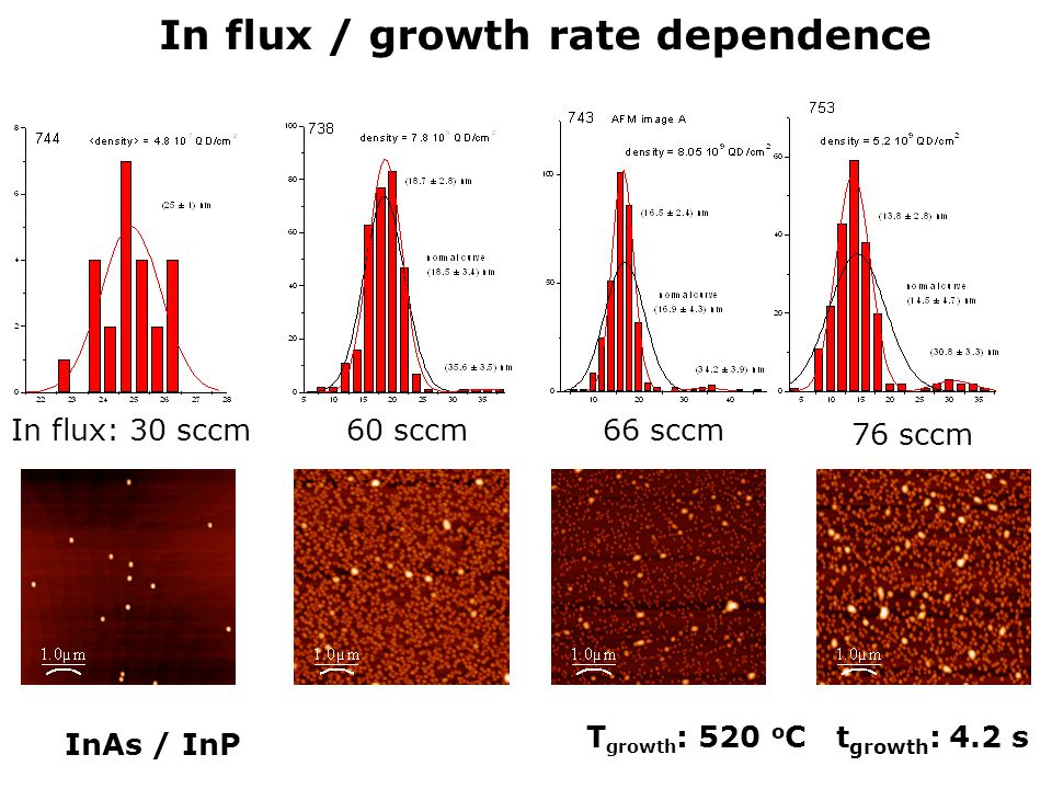In flux / growth rate dependence