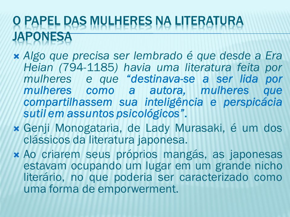 O papel das mulheres na literatura japonesa