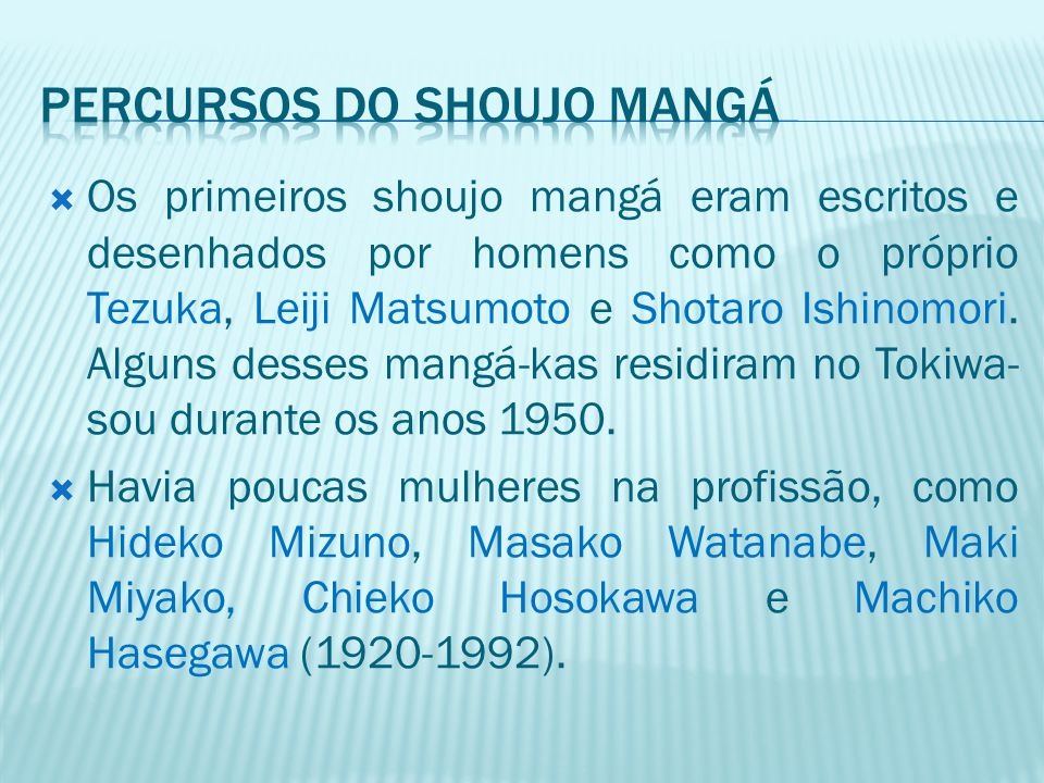 Percursos do shoujo mangá