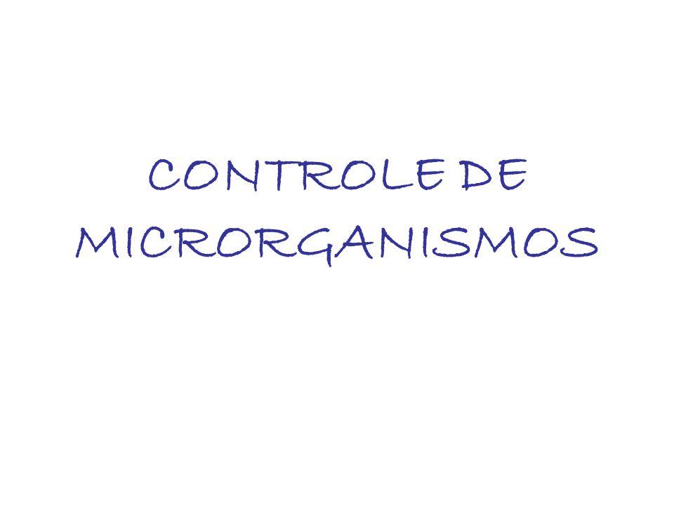 CONTROLE DE MICRORGANISMOS