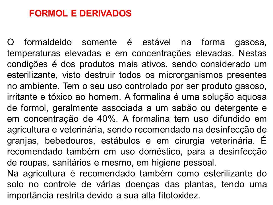 FORMOL E DERIVADOS