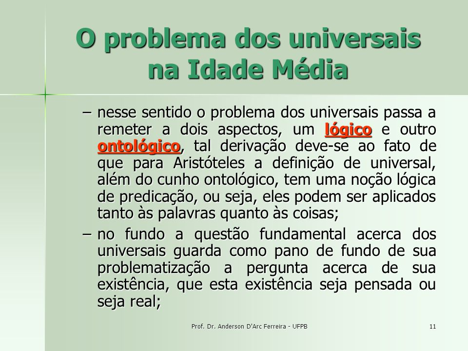 O problema dos universais na Idade Média