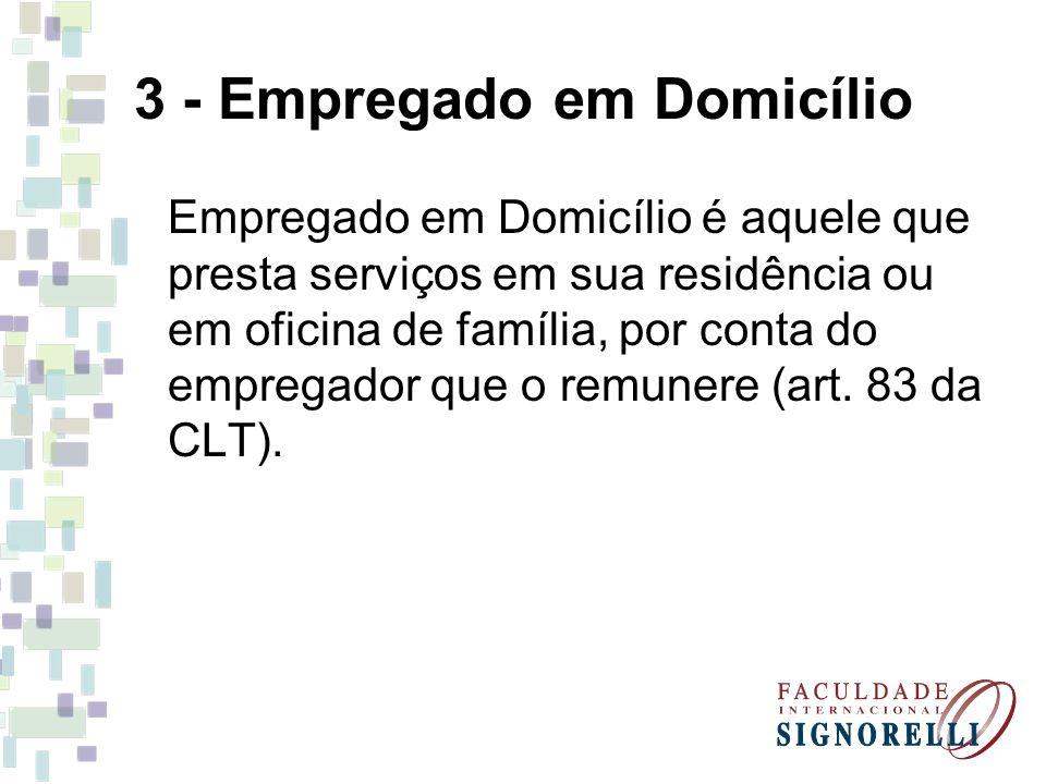 3 - Empregado em Domicílio