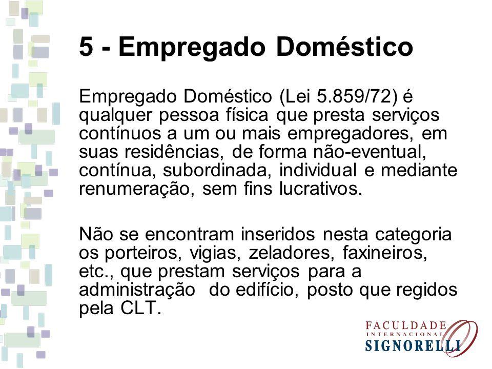5 - Empregado Doméstico