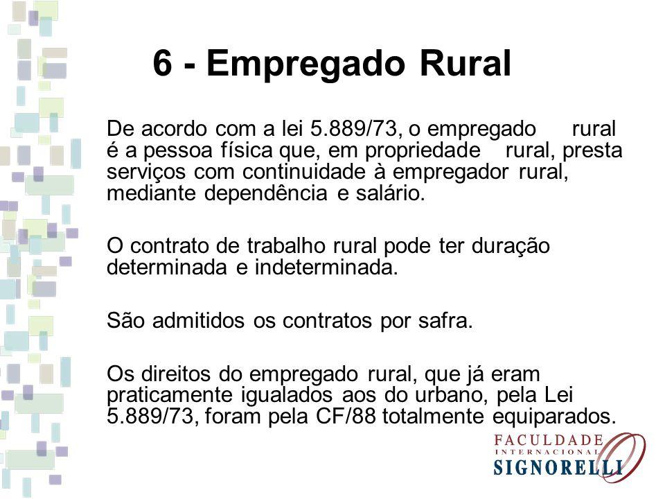 6 - Empregado Rural