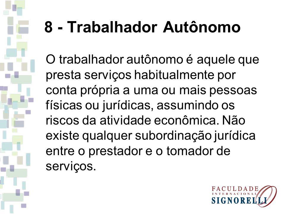 8 - Trabalhador Autônomo