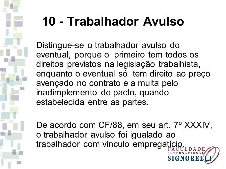 10 - Trabalhador Avulso