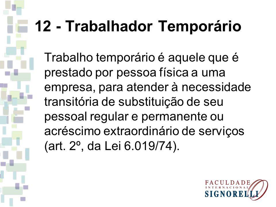 12 - Trabalhador Temporário