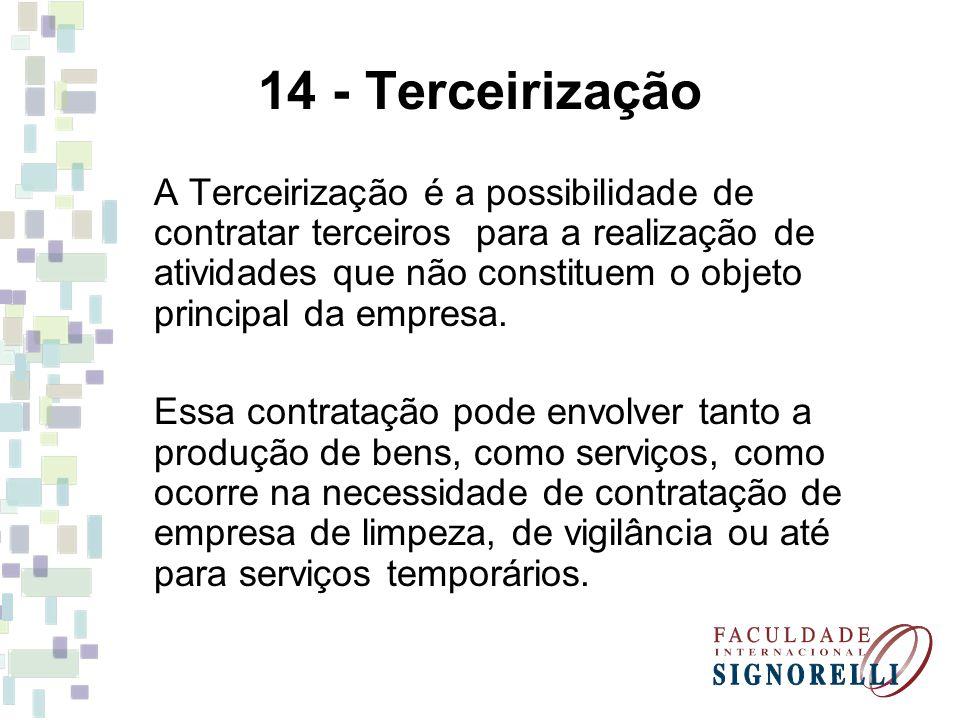 14 - Terceirização