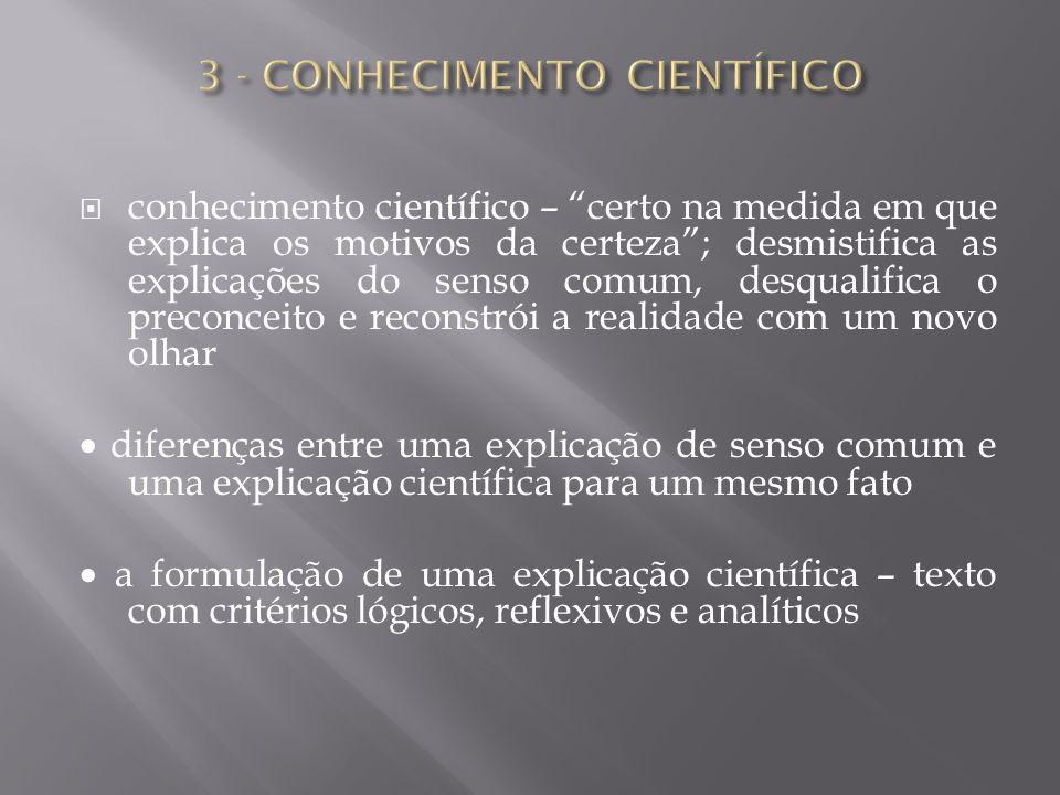 3 - CONHECIMENTO CIENTÍFICO