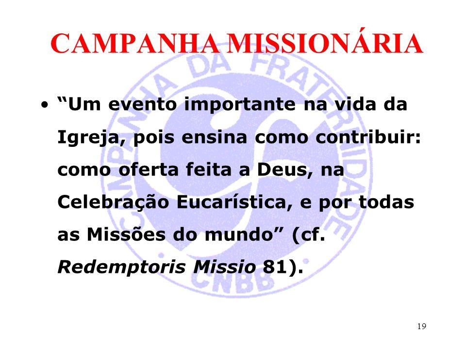 CAMPANHA MISSIONÁRIA