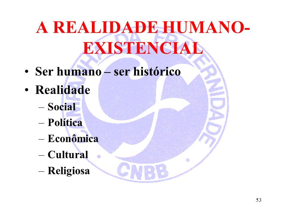 A REALIDADE HUMANO-EXISTENCIAL
