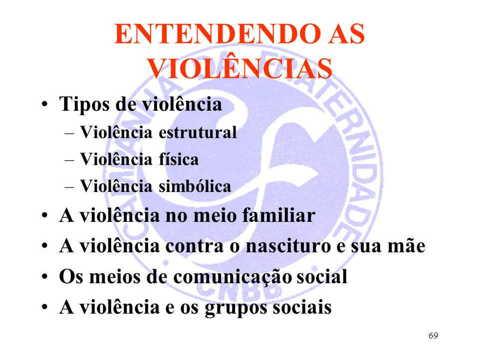 ENTENDENDO AS VIOLÊNCIAS
