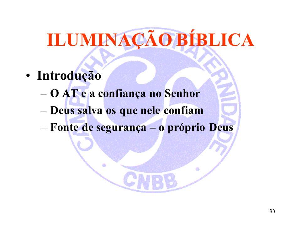 ILUMINAÇÃO BÍBLICA Introdução O AT e a confiança no Senhor
