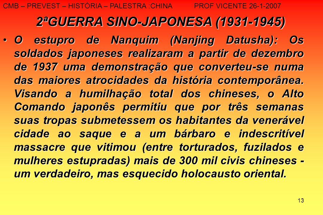2ªGUERRA SINO-JAPONESA (1931-1945)