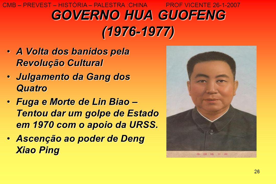 GOVERNO HUA GUOFENG (1976-1977)