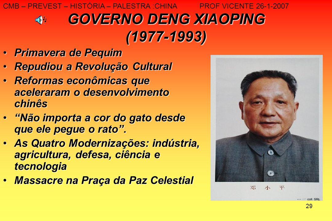 GOVERNO DENG XIAOPING (1977-1993)