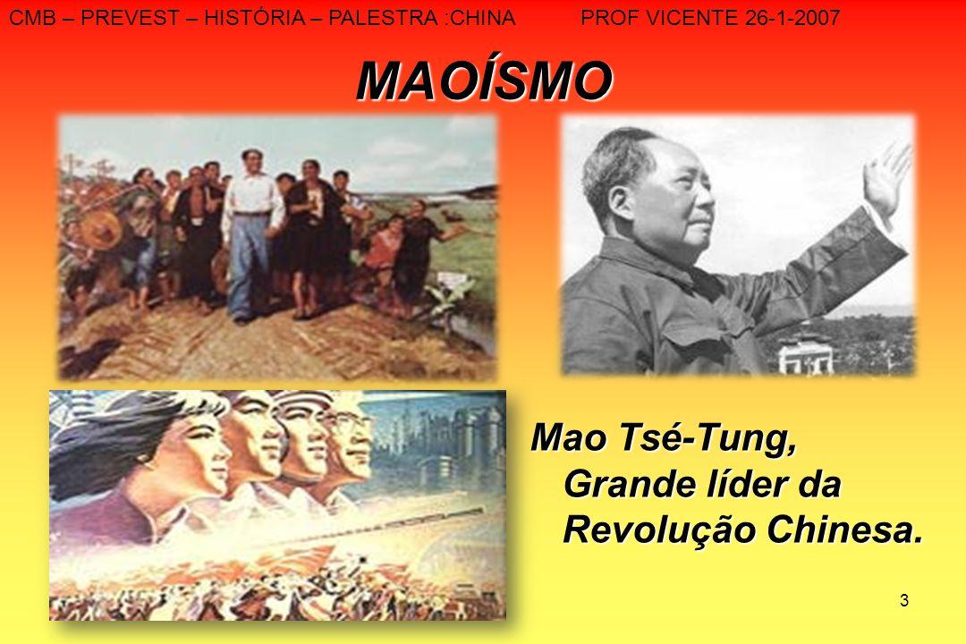 MAOÍSMO Mao Tsé-Tung, Grande líder da Revolução Chinesa.