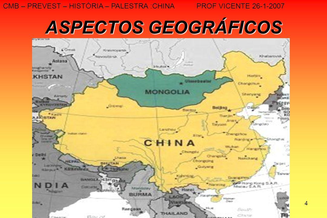 CMB – PREVEST – HISTÓRIA – PALESTRA :CHINA PROF VICENTE 26-1-2007