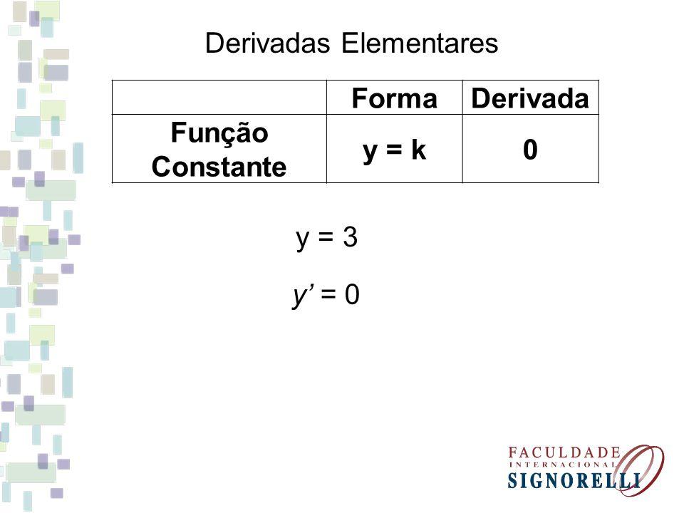 Derivadas Elementares