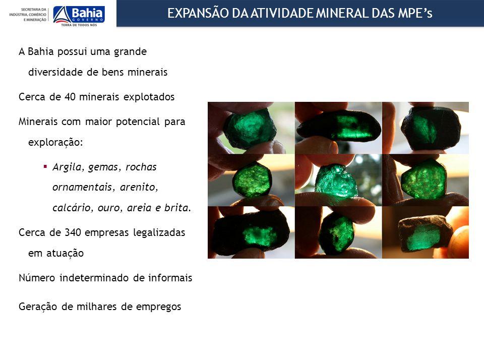EXPANSÃO DA ATIVIDADE MINERAL DAS MPE's