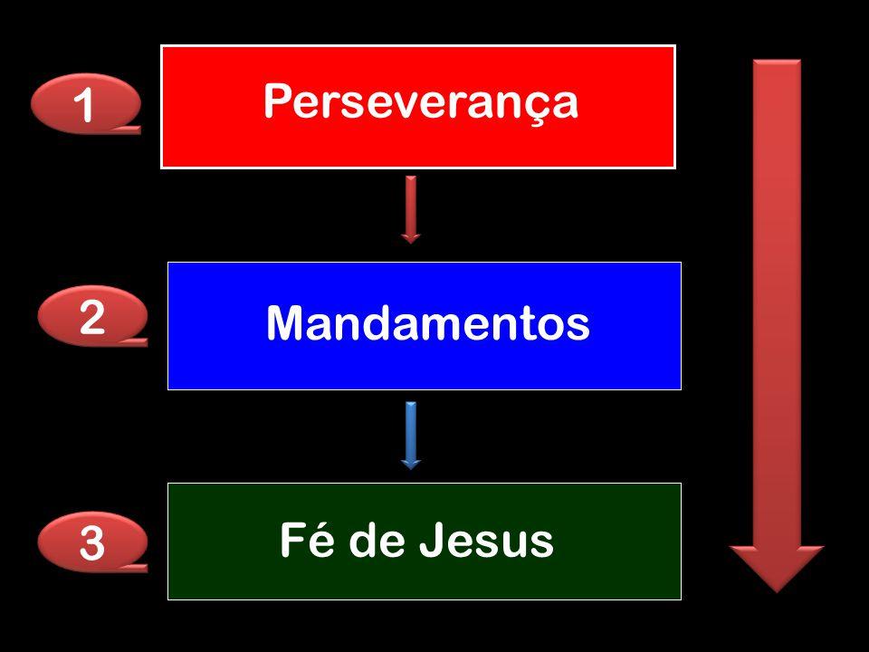 Perseverança 1 2 Mandamentos Fé de Jesus 3