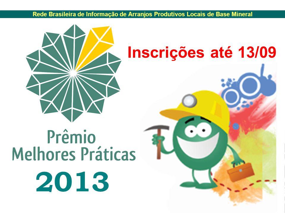 2013 Inscrições até 13/09