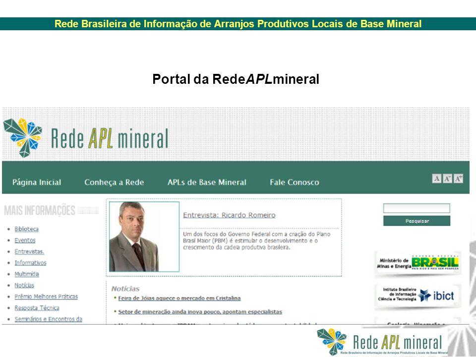 Portal da RedeAPLmineral