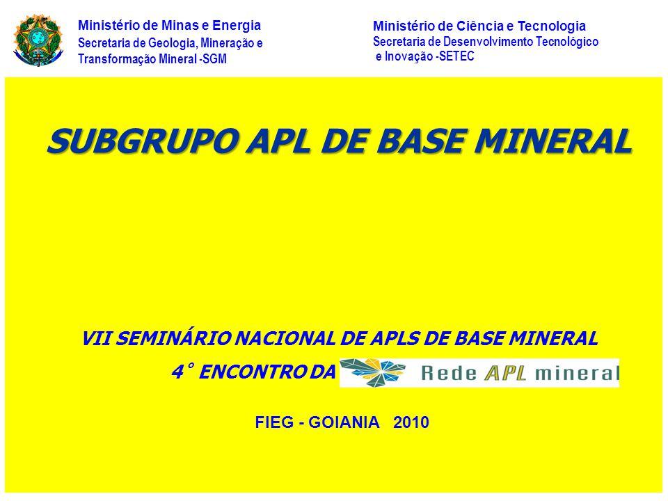 SUBGRUPO APL DE BASE MINERAL
