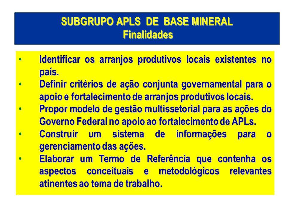SUBGRUPO APLS DE BASE MINERAL