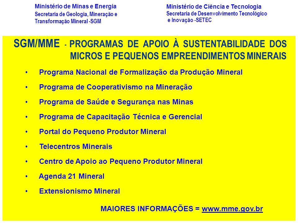 Secretaria de Geologia, Mineração e Transformação Mineral -SGM