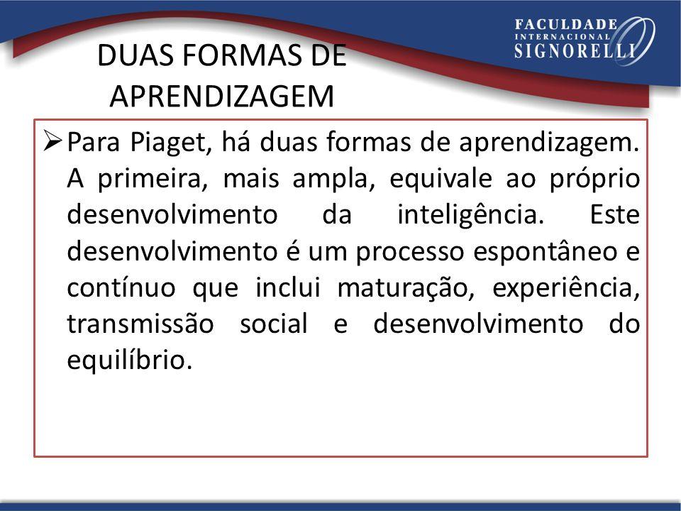 DUAS FORMAS DE APRENDIZAGEM