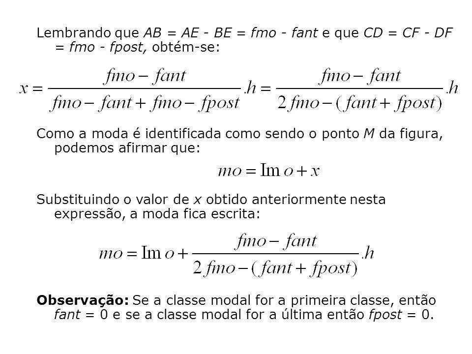 Lembrando que AB = AE - BE = fmo - fant e que CD = CF - DF = fmo - fpost, obtém-se: