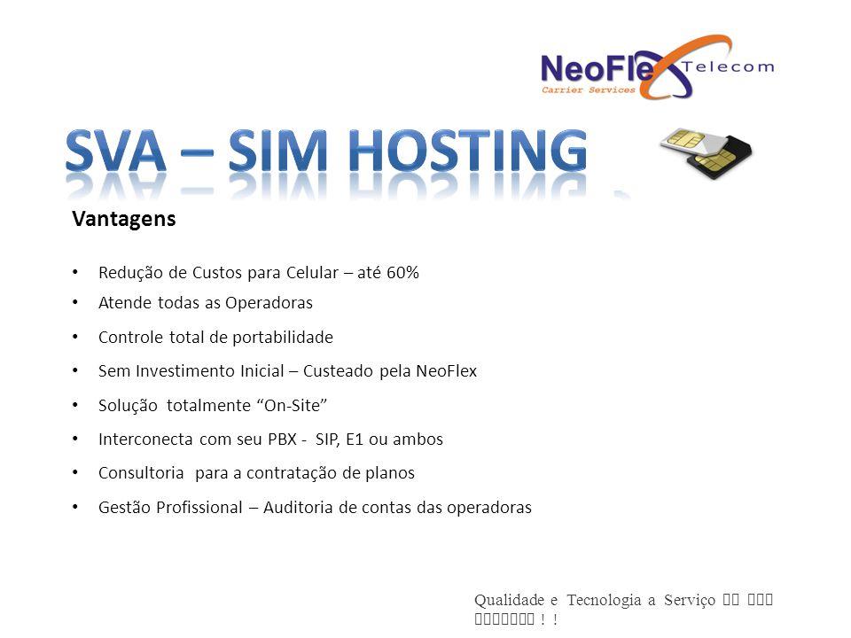SVA – SIM Hosting Vantagens Redução de Custos para Celular – até 60%