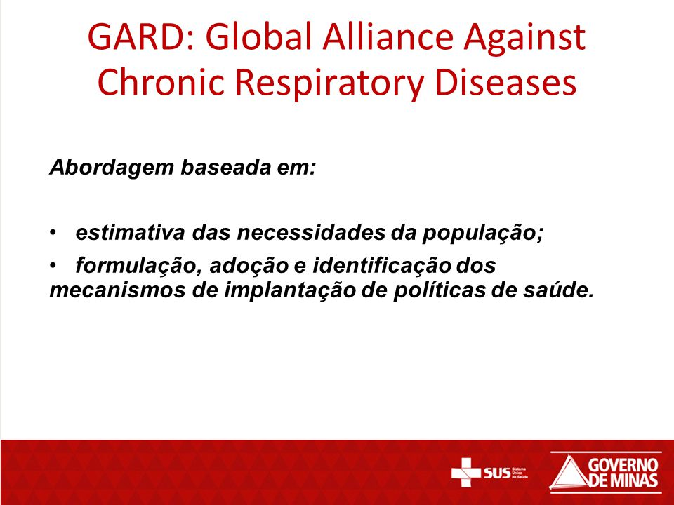 GARD: Global Alliance Against Chronic Respiratory Diseases