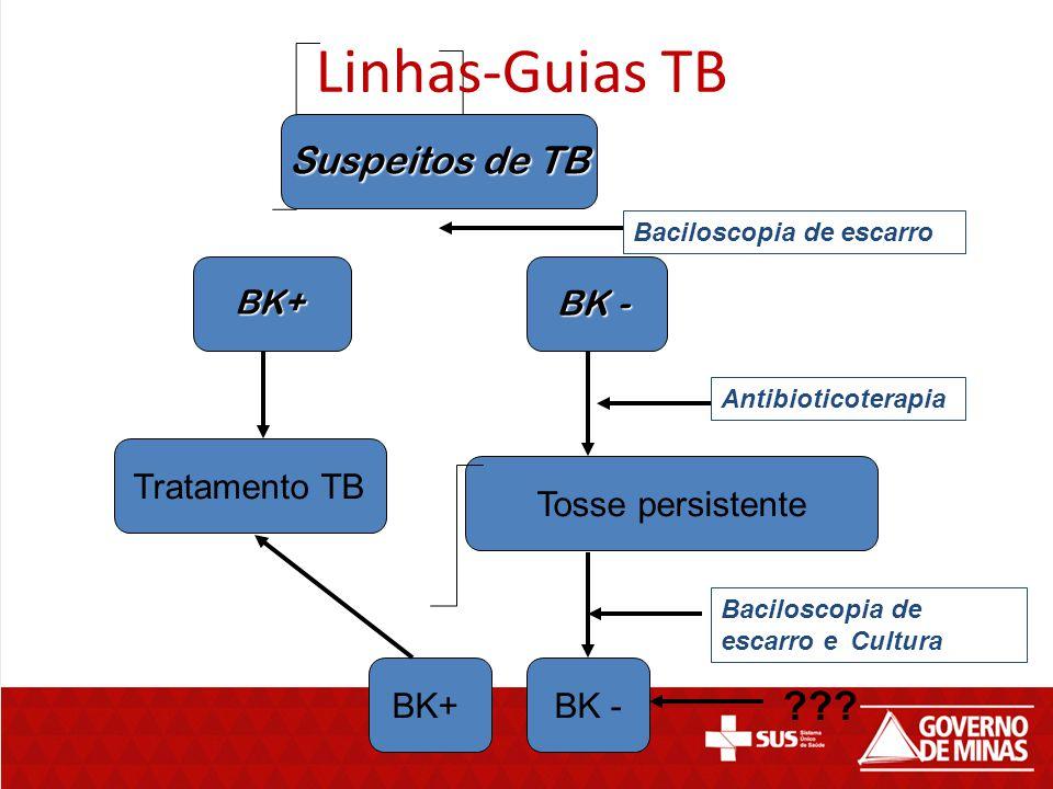 Linhas-Guias TB Suspeitos de TB BK - Tratamento TB