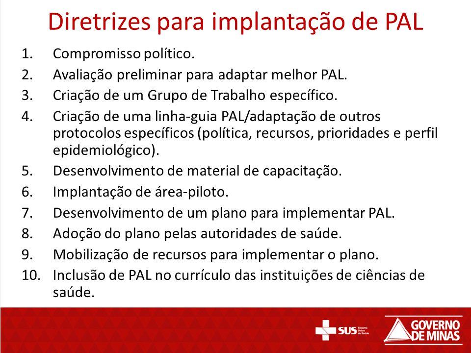 Diretrizes para implantação de PAL