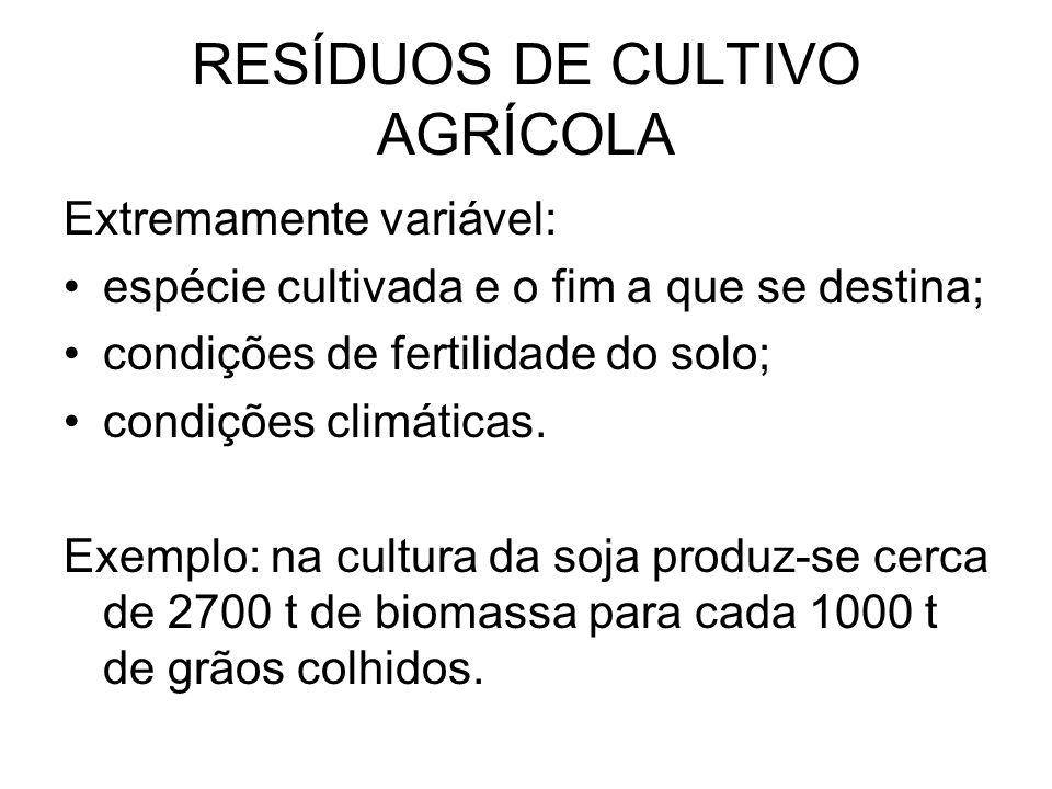 RESÍDUOS DE CULTIVO AGRÍCOLA