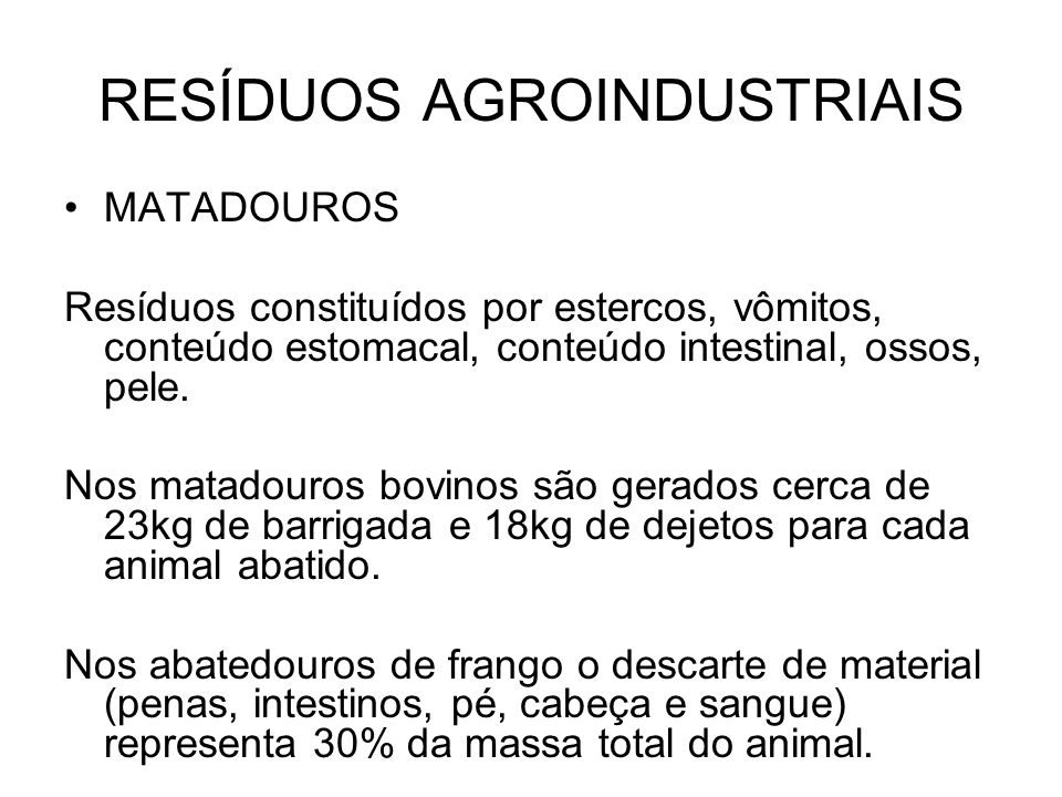 RESÍDUOS AGROINDUSTRIAIS