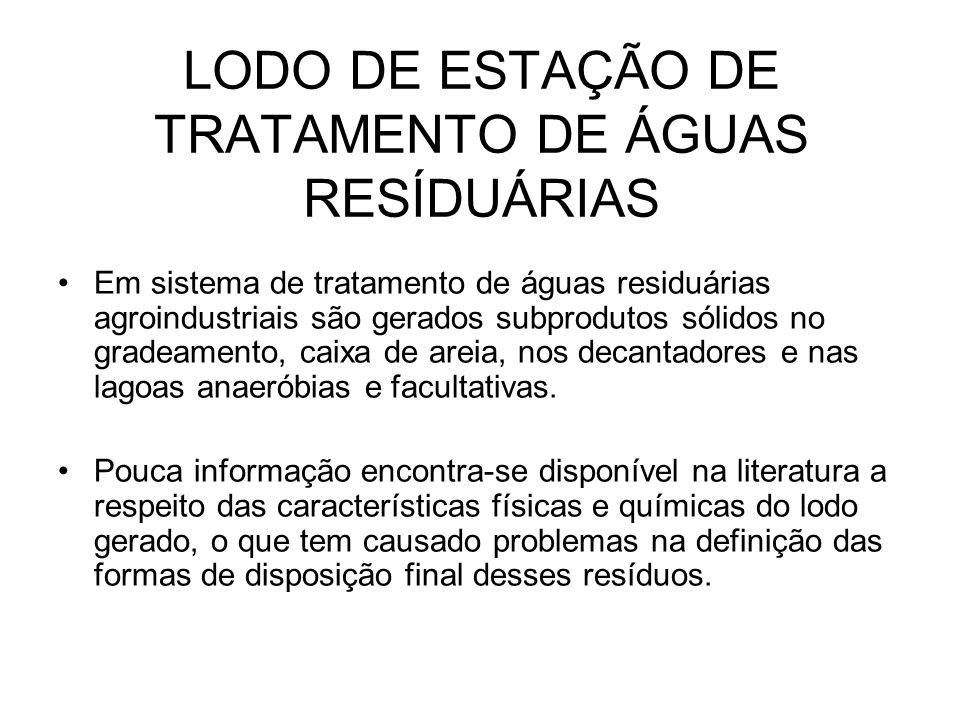 LODO DE ESTAÇÃO DE TRATAMENTO DE ÁGUAS RESÍDUÁRIAS